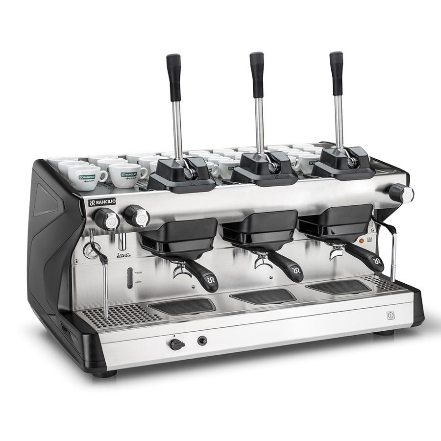 Professional coffee machine Rancilio LEVA, 3 groups, lever dosage